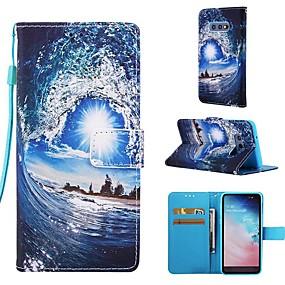 halpa Galaxy S -sarjan kotelot / kuoret-Etui Käyttötarkoitus Samsung Galaxy S9 Plus / S8 Plus Lomapkko / Korttikotelo / Tuella Suojakuori Scenery Kova PU-nahka varten S9 / S9 Plus / S8 Plus