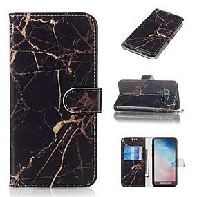 voordelige Galaxy S7 Edge Hoesjes / covers-hoesje Voor Samsung Galaxy S9 / S9 Plus / S8 Plus Portemonnee / Kaarthouder / met standaard Volledig hoesje Marmer Hard PU-nahka
