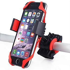 levne Kolo a cyklistika-Úchyt na telefon na kolo Nastavitelná 360 stupňů otočka GPS pro Silniční kolo Horské kolo Motorky Silikon ABS iPhone X iPhone XS iPhone XR Cyklistika Černá Červená 1 pcs