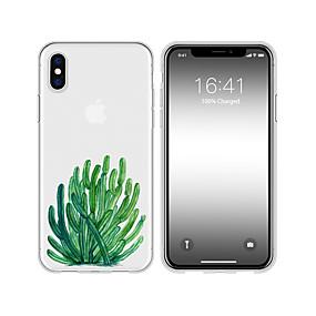olcso iPhone tokok-tok iPhone xs max x xr 8 plus hátsó tok puha kaktusz átlátszó mobiltelefon tok vízálló anti-fall és karcolás puha tm iphone 7 plusz 7 6 plusz 6 5 se 5s 5 8