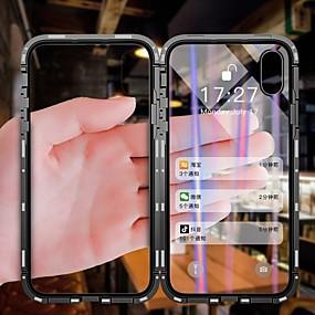 levne iPhone pouzdra-Carcasă Pro Apple iPhone X / iPhone 8 / iPhone 8 Plus Prachuodolné / Flip / Průhledné Celý kryt Průhledný Pevné Tvrzené sklo / Kov / Hliník pro iPhone X / iPhone 8 Plus / iPhone 8