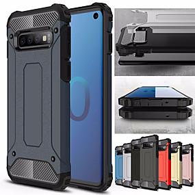 voordelige Galaxy S7 Hoesjes / covers-Schokbestendig telefoonhoesje voor Samsung Galaxy s10 plus s10e s10 5g s10 rubber pantser hybride pc hard cover voor s9 plus s9 s8 plus s8 s7 rand s7 tpu case