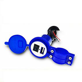 voordelige Autoladers-universele waterdichte 12V tot 5V 1.5A motorfiets slimme telefoon GPS USB-lader stroomadapter