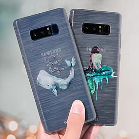 voordelige Galaxy S7 Edge Hoesjes / covers-hoesje voor samsung galaxy s8 plus / s8 / s7 rand stofdicht / ultradun / doorschijnend achterpaneel cartoon zacht tpu / waterdicht / anti-fall / creativiteit mode zeemeermin emboss shell