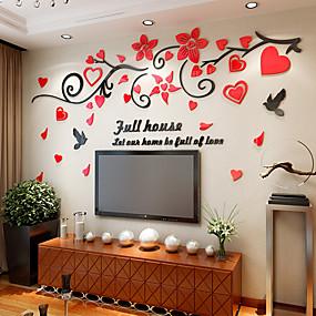 ieftine Casă & Grădină-Autocolante de Perete Decorative - 3D Acțibilduri de Perete Floral / Botanic Sufragerie / Interior
