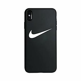 Недорогие Сортировать по модели телефона-Кейс для Назначение Apple iPhone XS / iPhone XR / iPhone XS Max Сияние в темноте / С узором Кейс на заднюю панель Слова / выражения Мягкий силикагель