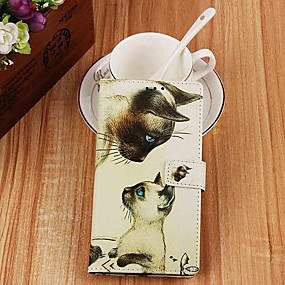 cheap Daily Deals-Case For Samsung Galaxy S9 / S9 Plus / S8 Plus Wallet / Card Holder / with Stand Full Body Cases Cat PU Leather