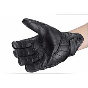 Недорогие Мотоциклетные перчатки-сенсорный экран для мотоциклетных перчаток зимой езда кожаные перчатки осень и зима стиль без отверстий