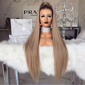 cheap Wigs & Hair Pieces-Synthetic Wig kinky Straight Style Middle Part Machine Made Wig Blonde Light golden Synthetic Hair 28 inch Women's Women Blonde Wig Long Natural Wigs