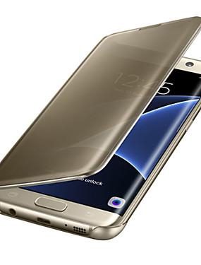 ieftine Carcase Mobil-Maska Pentru Samsung Galaxy Samsung Galaxy S7 Edge Auto Sleep / Wake / Placare / Oglindă Carcasă Telefon Mată PC pentru S8 Plus / S8 / S7 edge / Transparent