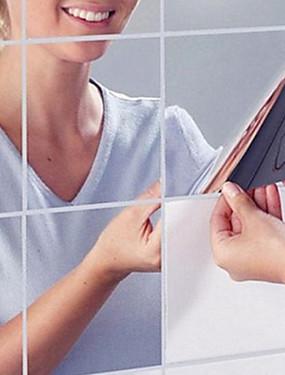 billige Hjem & Køkken-Spejle Vægklistermærker Vægklistermærker i Spejlstil Dekorative Mur Klistermærker Hjem Dekoration Vægoverføringsbillede Væg