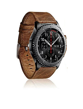 cheap Cell Phone Accessories-Watch Band for Gear S3 Frontier / Gear S3 Classic Samsung Galaxy Sport Band Leather Wrist Strap
