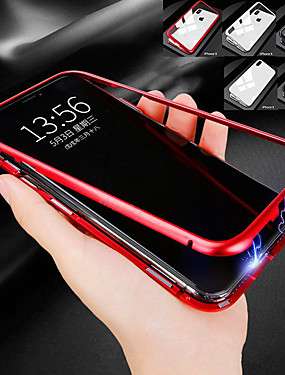 cheap iPhone 8 Plus Cases-Case For Apple iPhone XR / iPhone XS Max Shockproof / Magnetic Full Body Cases Solid Colored Hard Metal for iPhone XS / iPhone XR / iPhone XS Max