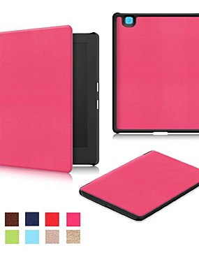 cheap Cell Phone Accessories-Case For KOBO Kobo Aura H2O Edition 2 Flip Full Body Cases Solid Colored Hard PU Leather for Kobo Aura H2O Edition 2