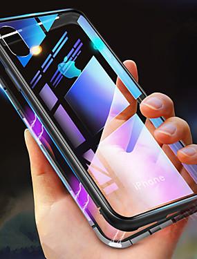 Χαμηλού Κόστους Καθημερινές προσφορές-tok Για Apple iPhone XR / iPhone XS Max Ανθεκτική σε πτώσεις / Διαφανής / Μαγνητική Πλήρης Θήκη Μονόχρωμο Σκληρή Ψημένο γυαλί για iPhone XS / iPhone XR / iPhone XS Max
