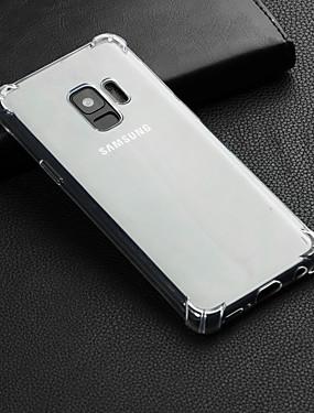 Χαμηλού Κόστους Καθημερινές προσφορές-tok Για Samsung Galaxy S9 Plus / S9 Ανθεκτική σε πτώσεις / Διαφανής Πίσω Κάλυμμα Μονόχρωμο Μαλακή TPU για S9 / S9 Plus / S8 Plus