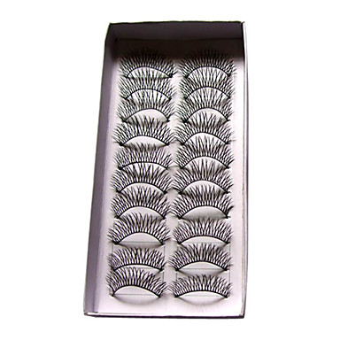 completo, cílios curvados lindamente 0 # - 10 pares por caixa (jjm032)