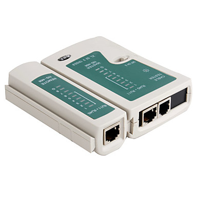 2-i-1 RJ45 RJ11 nettverk og telefon kabel testeren