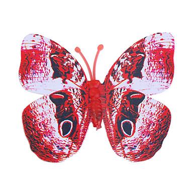 Glød-I-Mørke Sommerfugl 6Stk Hjem 3D Sommerfugl Væg Klistermærker Med Pin & Magnet Gardiner Køleskab Dekoration