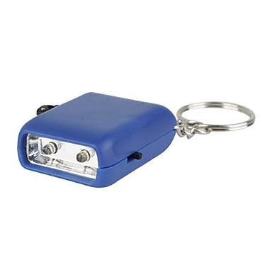 mini 2-led ręcznie korba brelok latarka dynamo