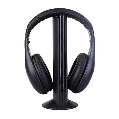 MH2001 cuffie da 3,5 mm sopra l'orecchio 5 in 1 wireless con microfono radio fm mp3 / pc / tv