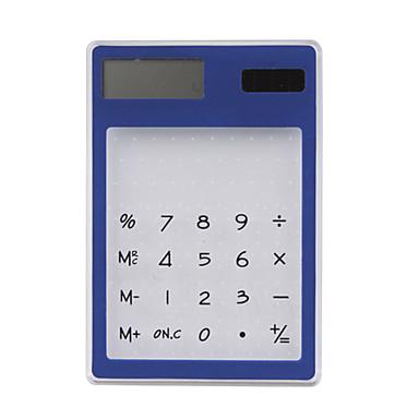 Transparent-Solar-Powered-Calculator(Blue)