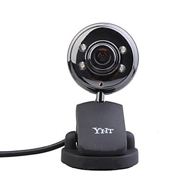 8,0 mega píxeles Webcam USB + micrófono (negro)