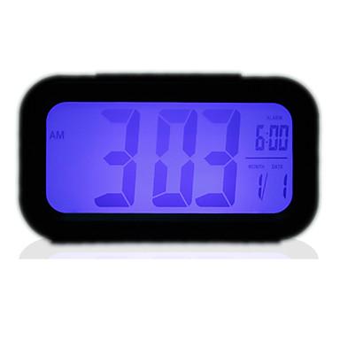 블루 백라이트 LCD 디지털 알람 시계 달력 (3xaaa)