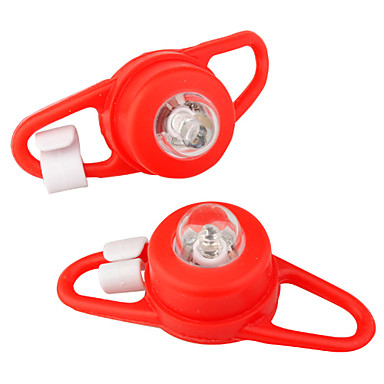 luz vermelha 3-modos de tie-chaves na luz da bicicleta (2-pcs set)
