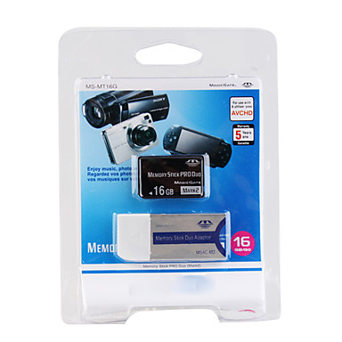 16GB Memory Stick Pro Duo Memory Card and Adapter