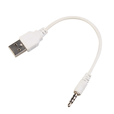USB 2.0 to 3.5mm Jack Data Sync Cable for mp3 mp4