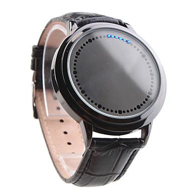 Reloj Pulsera de Pantalla Táctil LED Azul y Blanca Con Correa de Centelleo