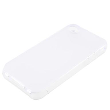 iphone4 (beyaz) için koruyucu şeffaf yumuşak durumda
