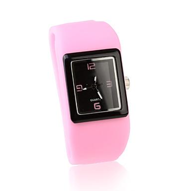 Fashion Women Watch Silicone Wrist Watchs - Pink
