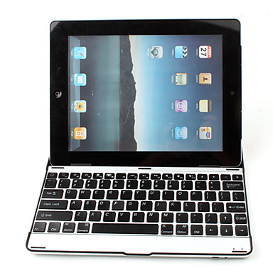 Ultra-Slim Aluminum Wireless Bluetooth QWERTY Keyboard for iPad 2 and The new iPad