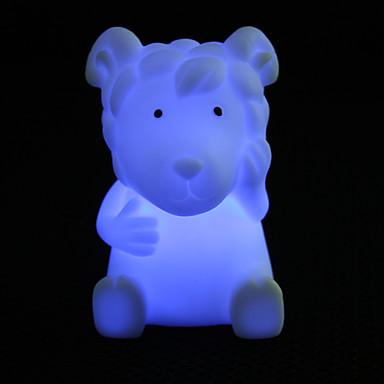 Lovely Sheep Shaped Colorful LED Night Light (3xLR44)