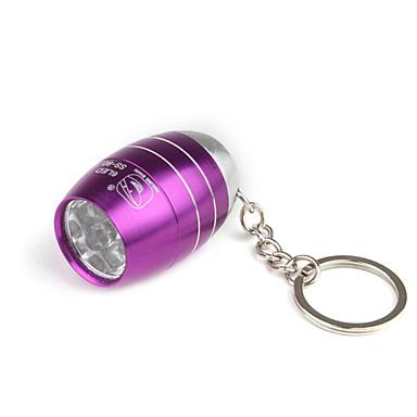 Barrel Shape 6pcs Superbright LED Flashlight KeyChain Unique Design Purple