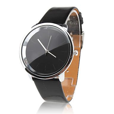 Mulheres Relógio de Moda Relógio Elegante Quartzo PU Banda Minimalista Preta