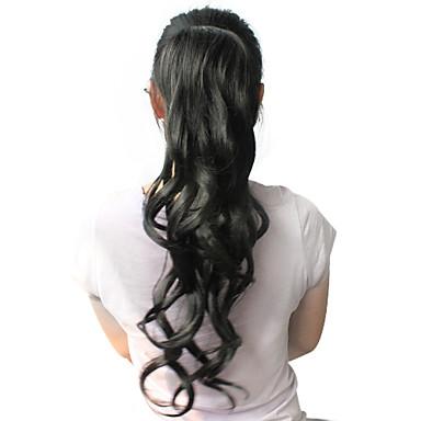 Coadă de cal Buclat Clasic Păr Sintetic 22 inch Lung Extensie de păr Zilnic