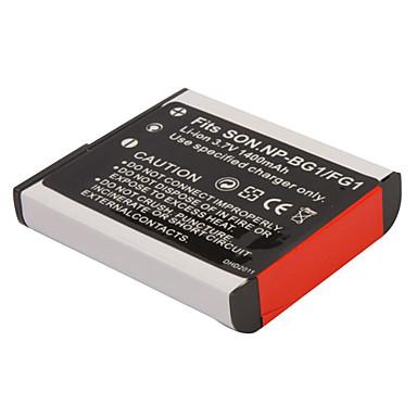 1400mah 3.7V digitalkamera batteri np-bg1/fg1 for SONY DSC-W30 og mer
