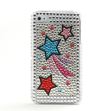 Stars Protective Hard Case with Crystals for iPhone 4 (Sliver)