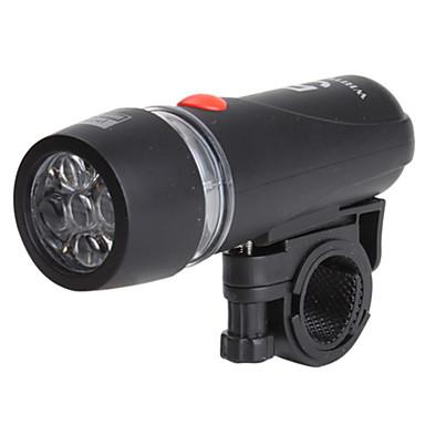 bicicleta conduziu a luz da cabeça com a luz vermelha de aviso e suporte de montagem
