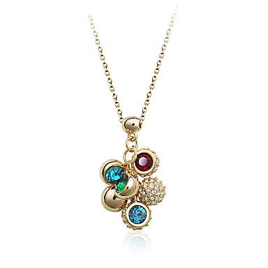 forme de raisin collier aux couleurs vives de cristal pendentif