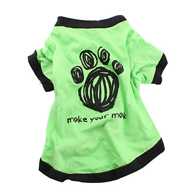 Dog Shirt / T-Shirt Dog Clothes Letter & Number Green Cotton Costume For Pets Men's Women's Casual/Daily