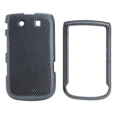 Special Small Grid Pattern Back Case and Bumper Frame for Blackberry 9800 (Black)