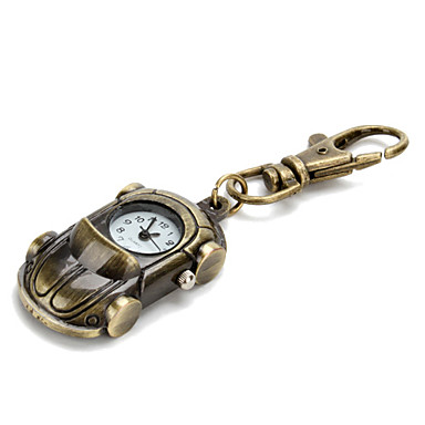 Retro Sports Car of Unisex Alloy Analog Quartz Keychain Watch (Bronze)