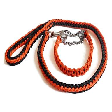 Stitched Pattern Style Nylon Dog Leash Kit (100cm/39inch, Brown))
