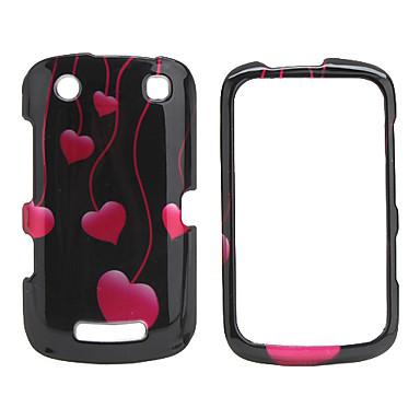 Heart Pattern Back Case and Bumper Frame for Blackberry 9380