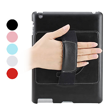 Portable PU Leather Case with Stand for iPad 2/3/4 (Assorted Colors)