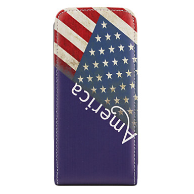 Vintage US Flag Pattern Style PU Leather Full Body Case for Samsung i9000 (Multi-color)